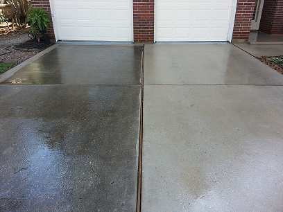 Driveway sidewalk cleaning seminole power wash for What to clean concrete with