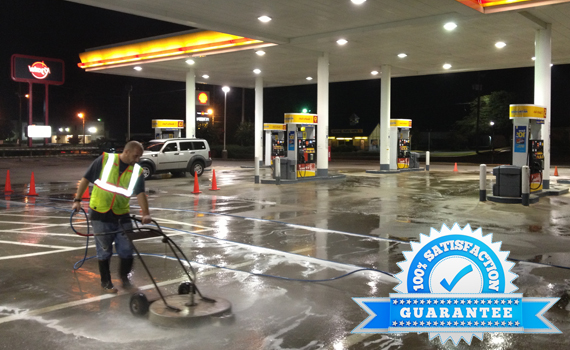 gas station pressure washing