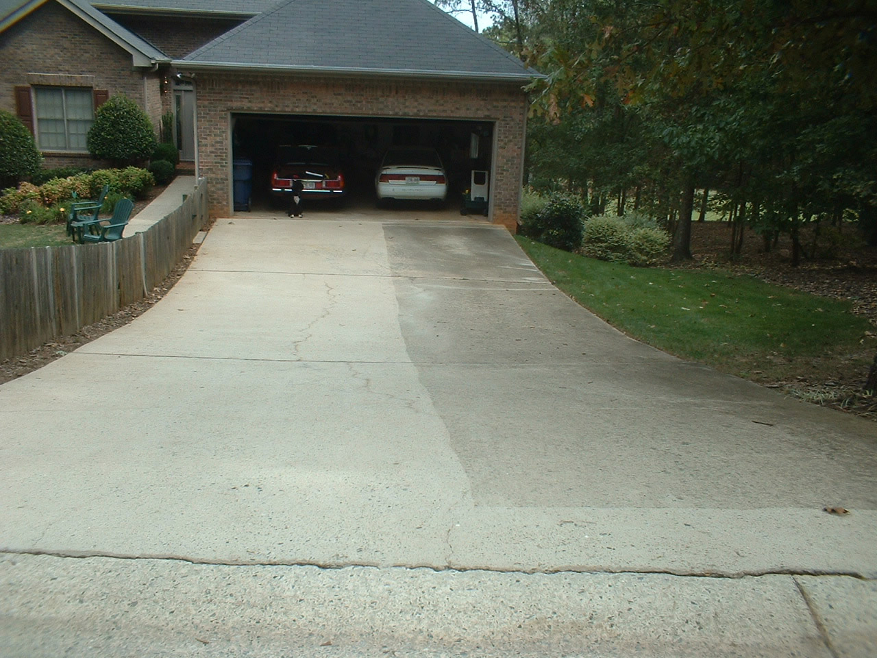 Driveway sidewalk cleaning seminole power wash for Pressure wash concrete patio